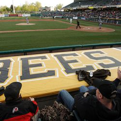 Fans enjoy the game as the Salt Lake Bees open the season at home  in Salt Lake City  Friday, April 13, 2012.