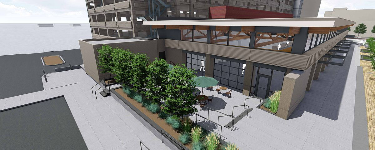 A rendering of the planned Junction Food & Drink food hall