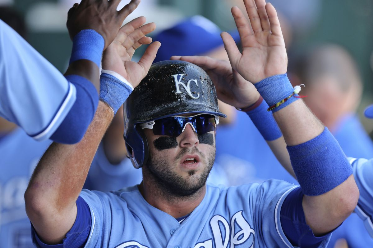Mike Moustakas who that was that he just high-fived.