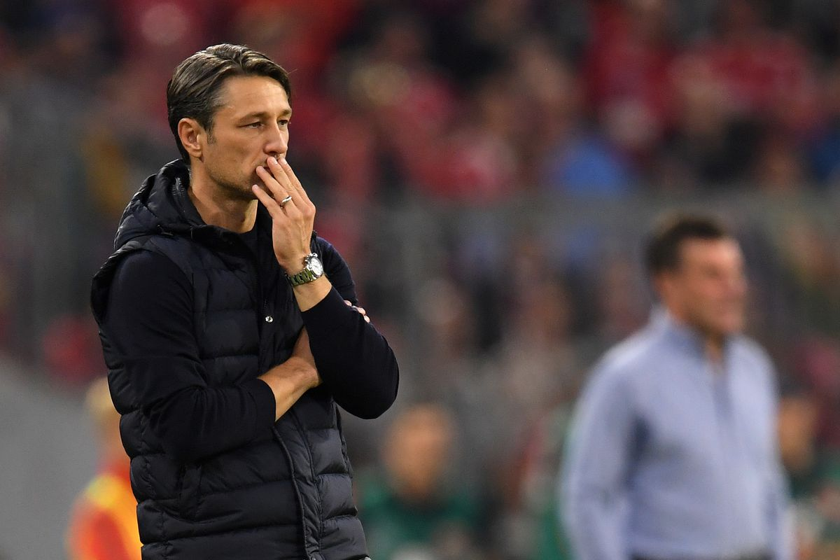 MUNICH, GERMANY - OCTOBER 06: Head coach Niko Kovac of FC Bayern Muenchen reacts during the Bundesliga match between FC Bayern Muenchen and Borussia Moenchengladbach at Allianz Arena on October 06, 2018 in Munich, Germany.