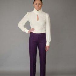 Ragan blouse, $495; Audrey trousers, $495
