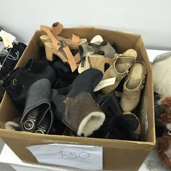 Sample clog shoes, $50