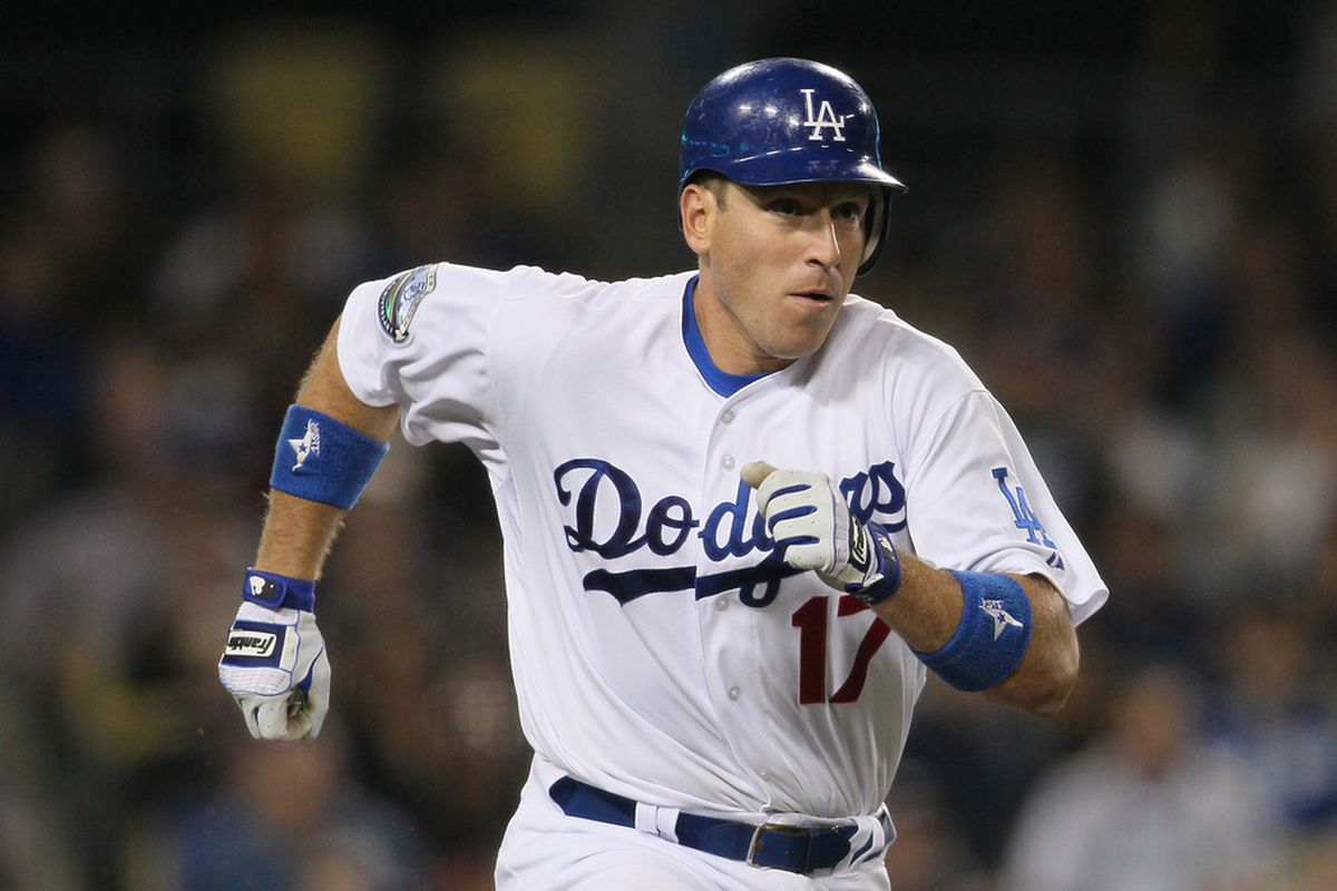 A.J. Ellis has a .444 on-base percentage this season, and drove in the go-ahead run on Monday night.