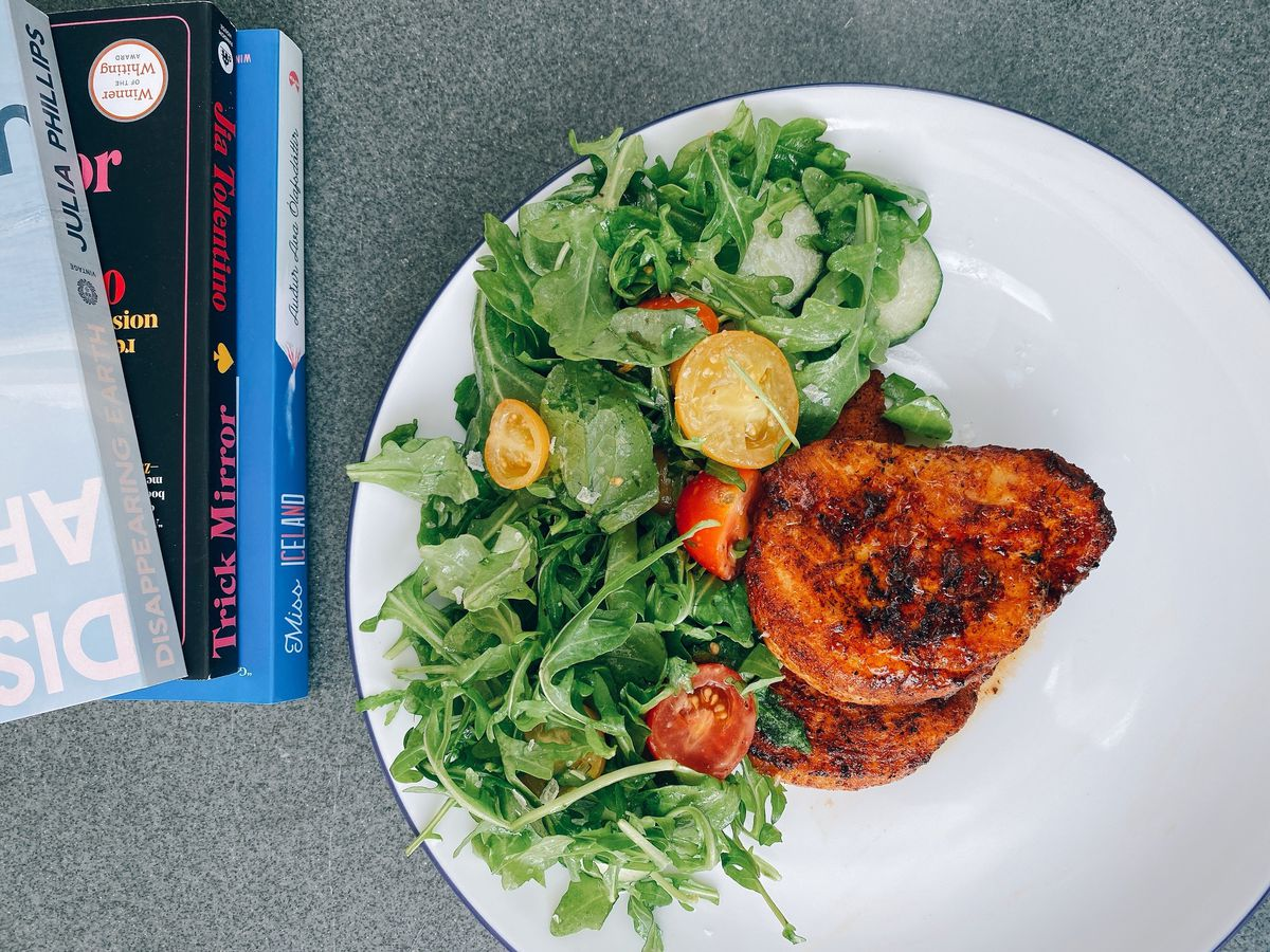 A mesquite chicken paillard from All Day by Kramers