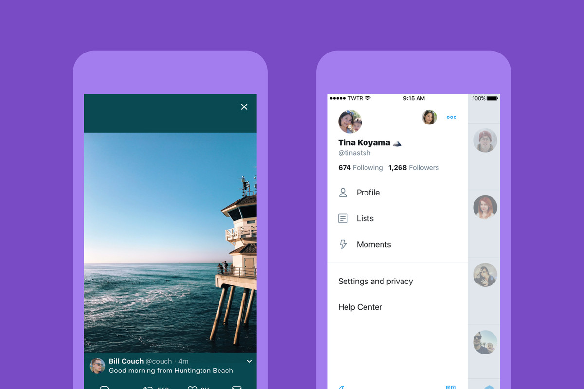 Twitter's redesign basically comprises old fashioned rounded buttons and new icons