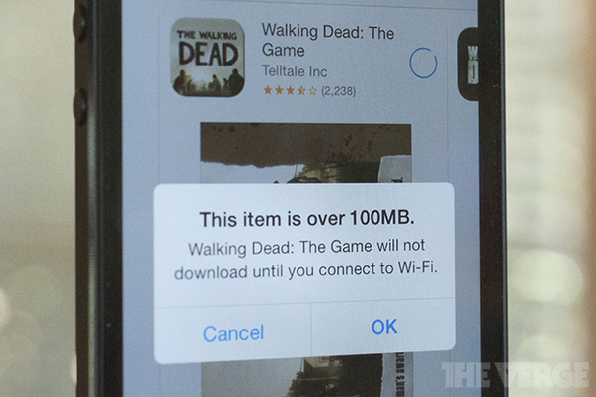 iOS 7 100MB download limit