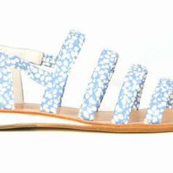 """b Store <a href=""""http://www.openingceremony.us/products.asp?menuid=2&menuid2=5&designerid=159&productid=81766"""">multi-strap printed flat sandals</a>: """"These make me feel like I'm back in kindergarten and playing capture the flag. And, they go great with po"""