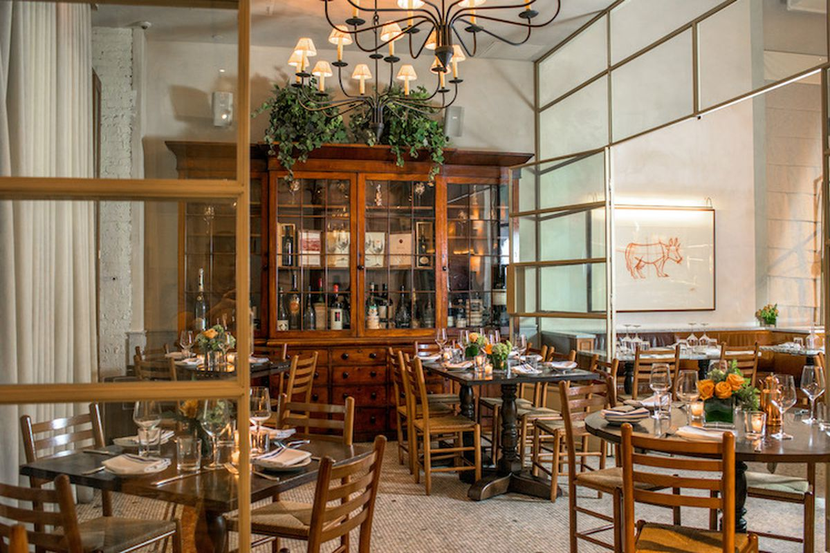 The Manzo private dining room in New York City