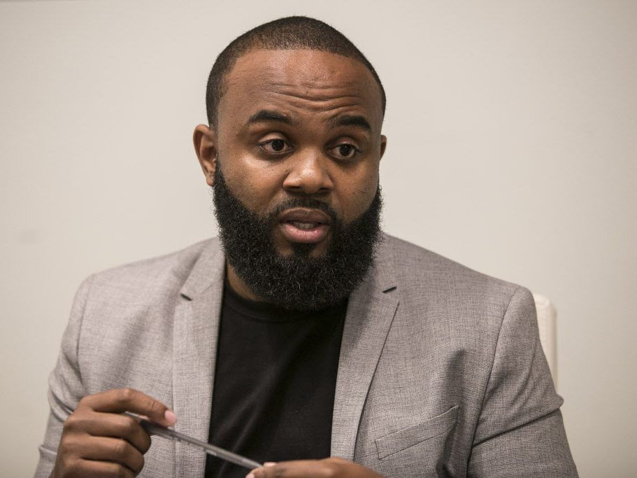 Fifth Ward aldermanic candidate William Calloway meets with the Sun-Times Editorial Board in December. File Photo.   Rich Hein/Sun-Times