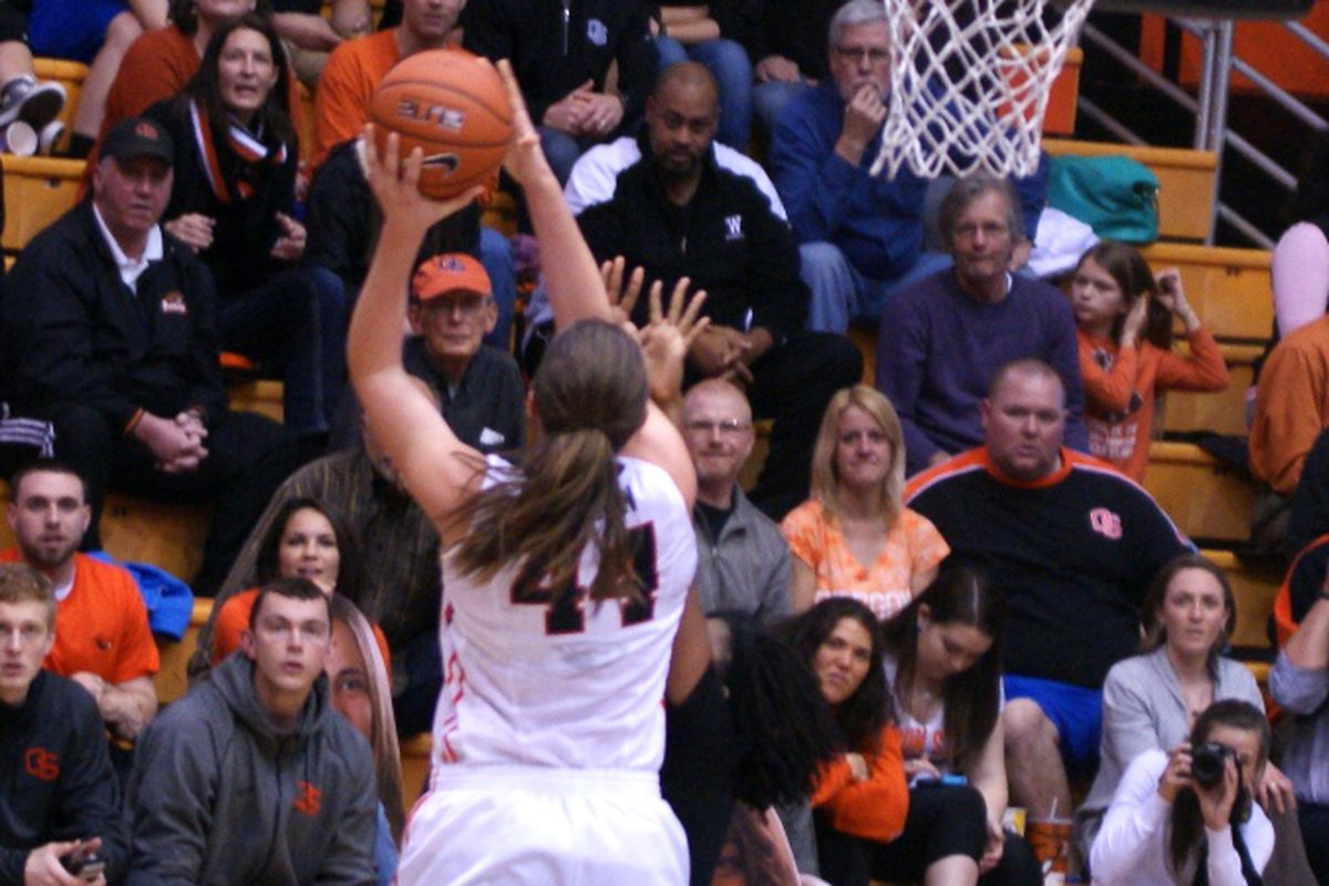 Ruth Hamblin recorded only the second triple double ever in Oregon St. history to lead the Beavers past Oregon.