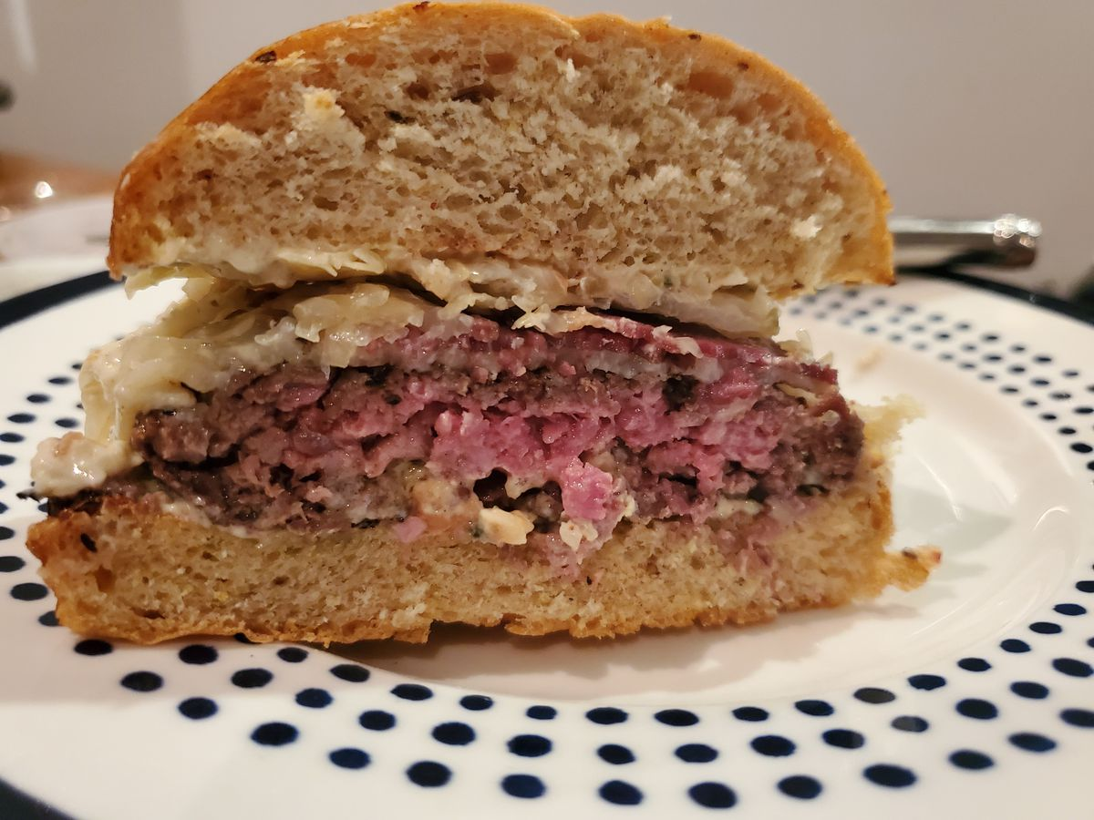 A cross-section of a Barlow burger from Annabelle