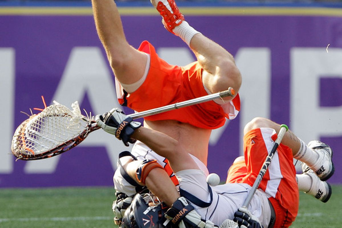 Virginia lacrosse is just one of seven teams in competition today, as they continue their road to defending their national championship.
