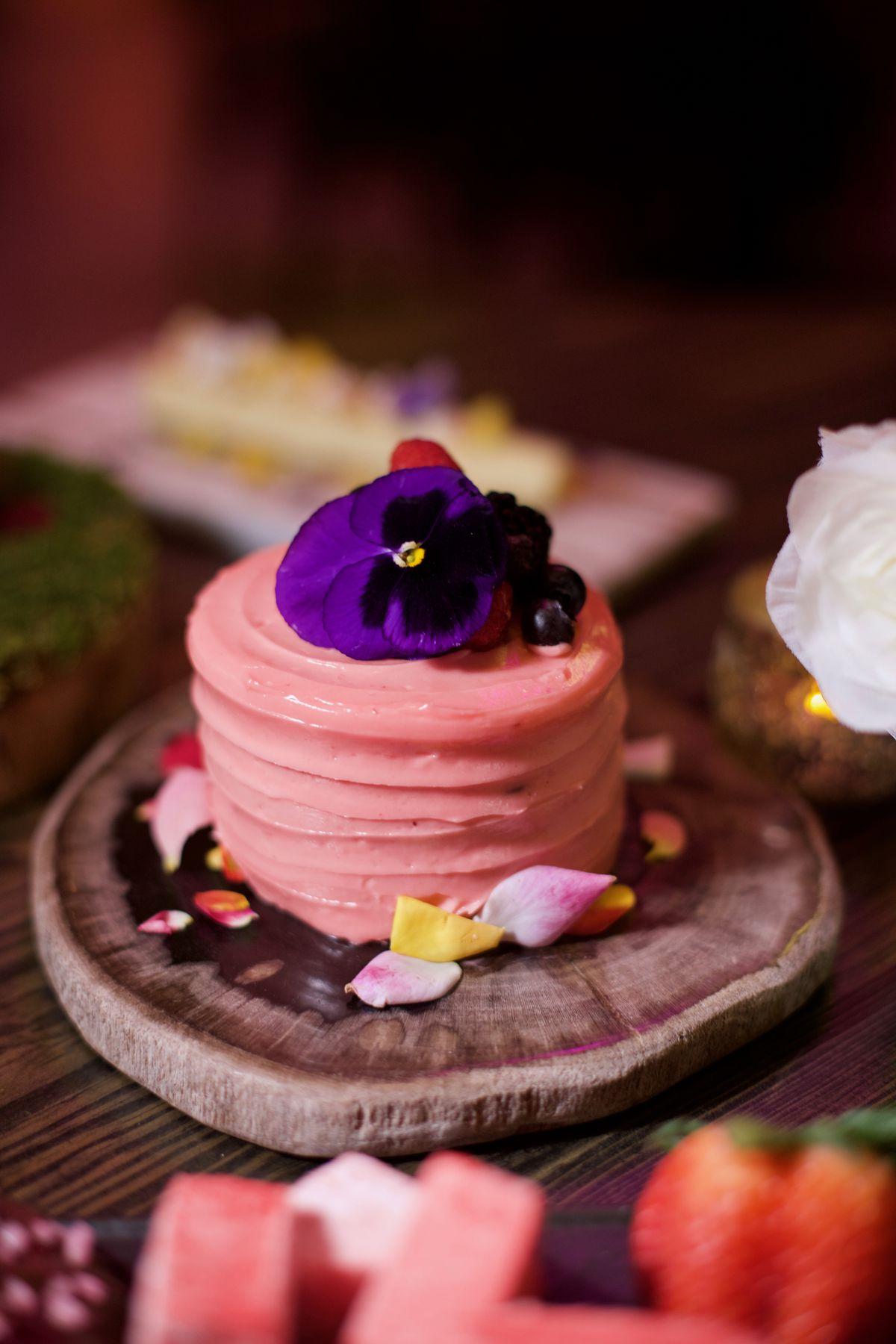 Vanderpump rosé cake at Vanderpump Cocktail Garden