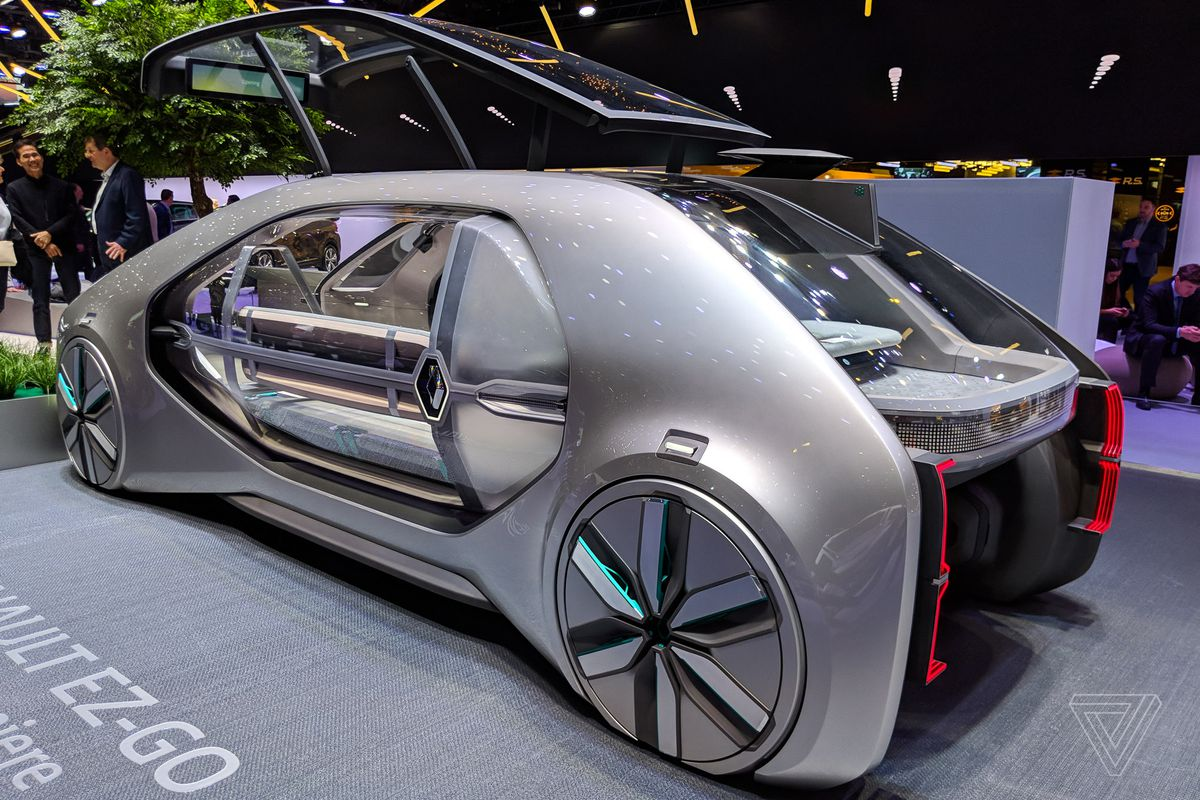 renault s ez go concept car is a robot taxi from the future the verge. Black Bedroom Furniture Sets. Home Design Ideas