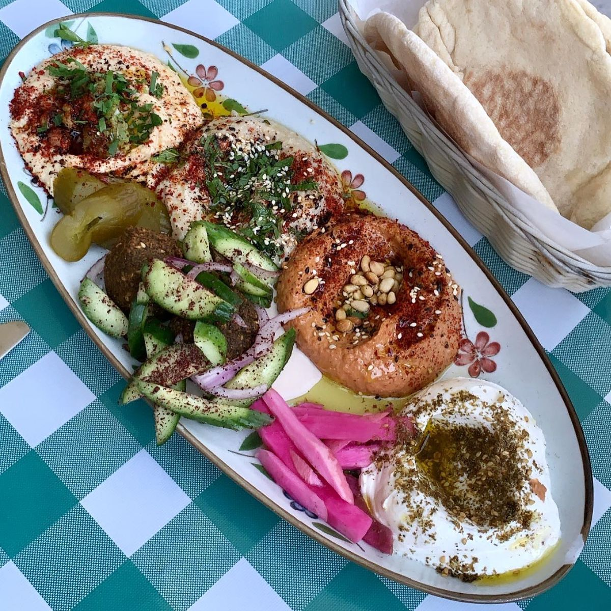 Mezze sampler at Beit Rima