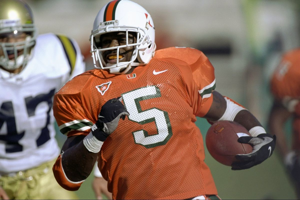 new style afb46 22282 100 Greatest Plays in Miami History: #17- Edgerrin James ...