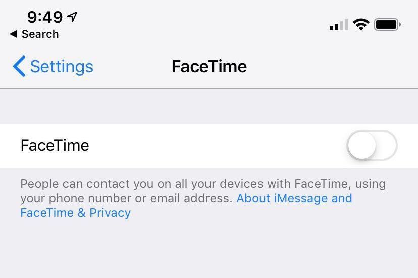facetime iOS screenshot