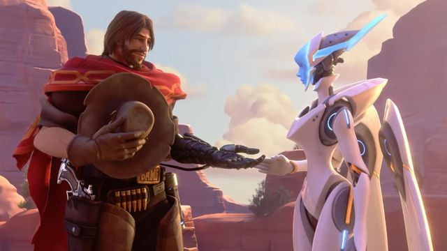 Overwatch - McCree lends Echo a hand in the Reunion cinematic