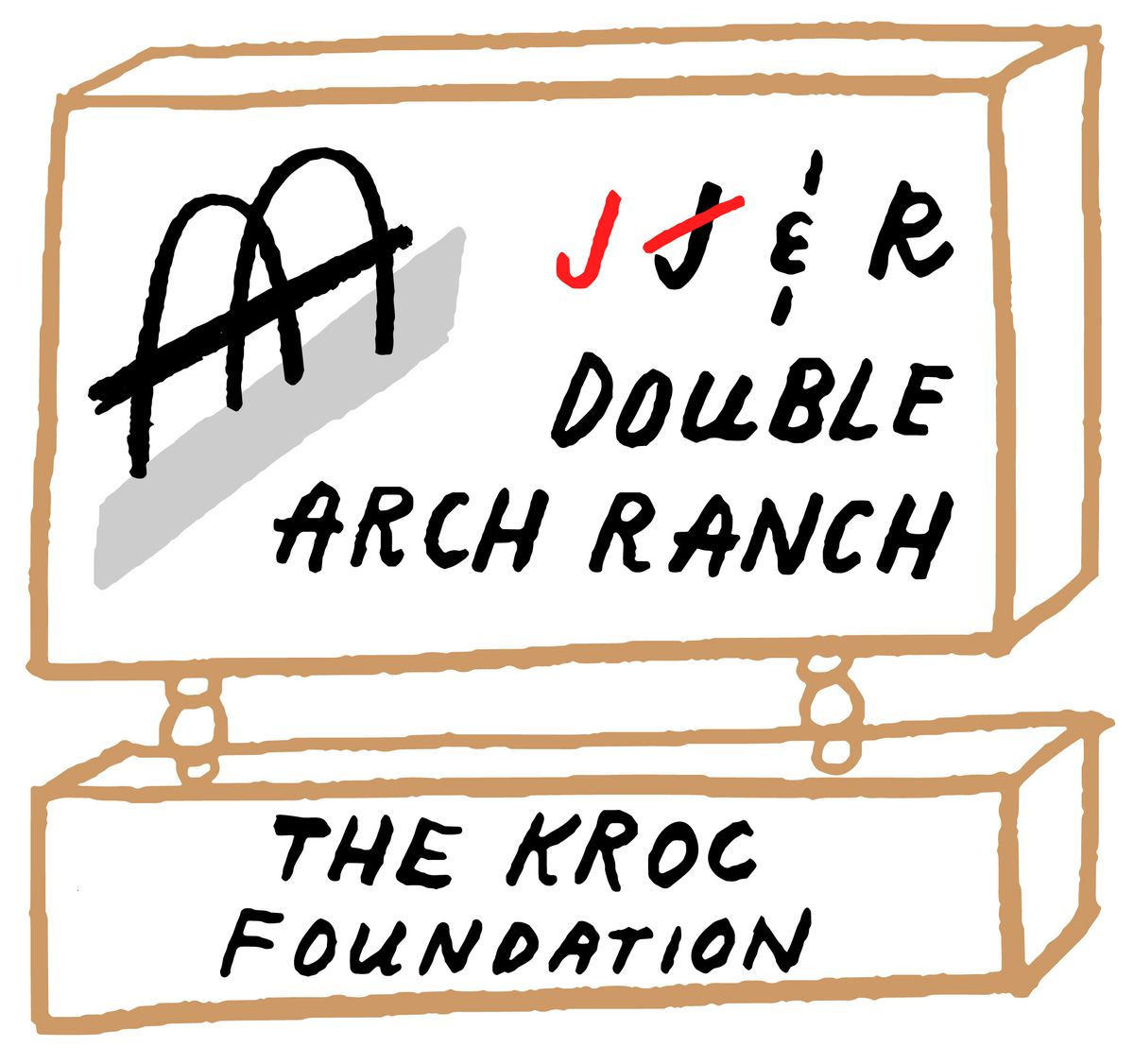 An illustration of the sign outside of the Kroc Ranch.