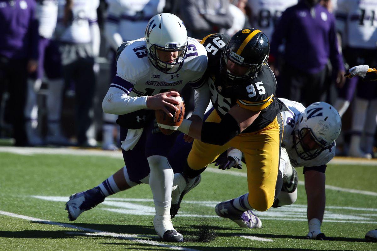Northwestern's helmets look like eggs, so this picture makes sense.