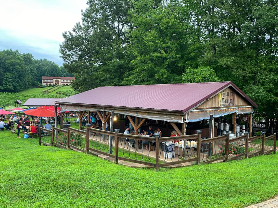 The Southern Maryland Biergarten is attached to Running Hare Vineyard