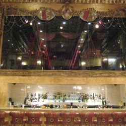 The infinity stage sits above the bar. SAX has its own dance troupe, led by choreographer Hillary Wright.
