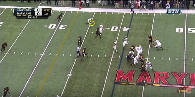 FF - Maryland - Rudock - Low Ball to Harris