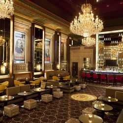 <strong>BOND</strong>, Financial District. The Langham Hotel bar and restaurant was once the members' court of the Federal Reserve Bank of Boston, which opened in this space back in 1922. BOND came along just two years ago, but kept some of the original f