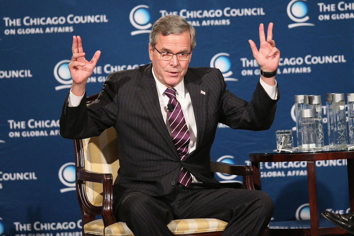Jeb Bush answers questions about his Chicago Council speech.