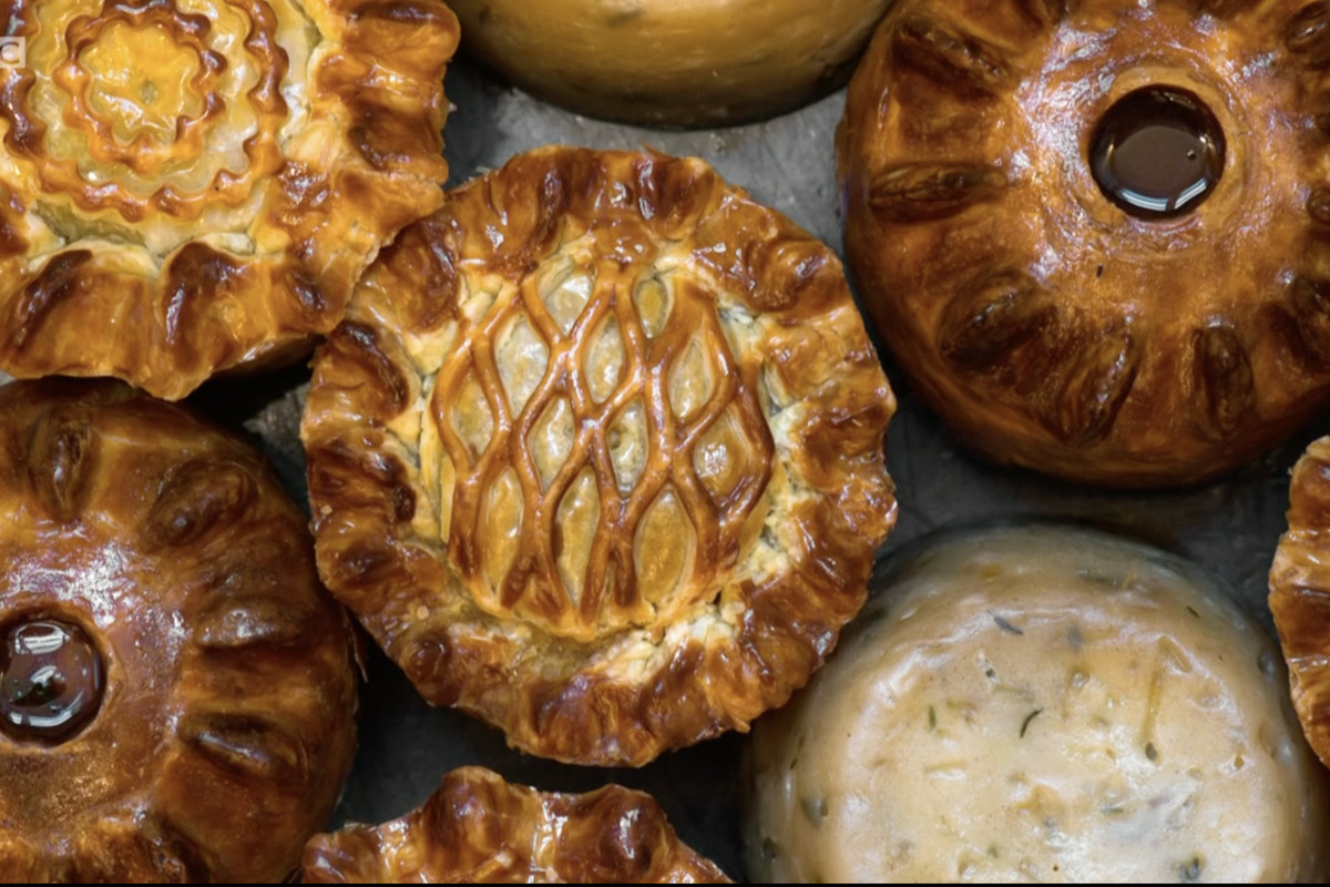 A range of intricately decorated pies from Calum Franklin's Pie Room at Holborn Dining Room