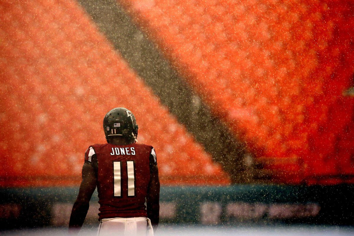 Julio Jones is always strapped up, even when there are no football games.