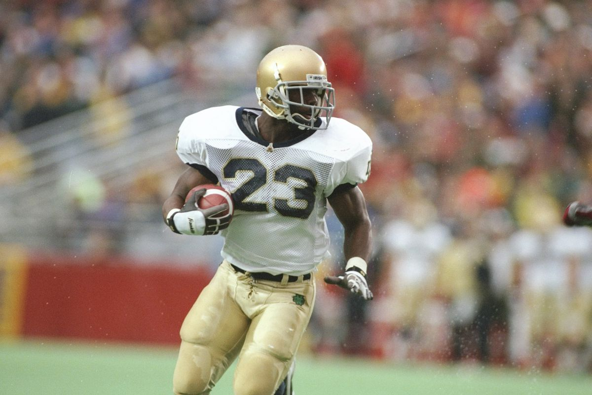 Let S Talk About Notre Dame S Best Modern Running Backs One Foot Down