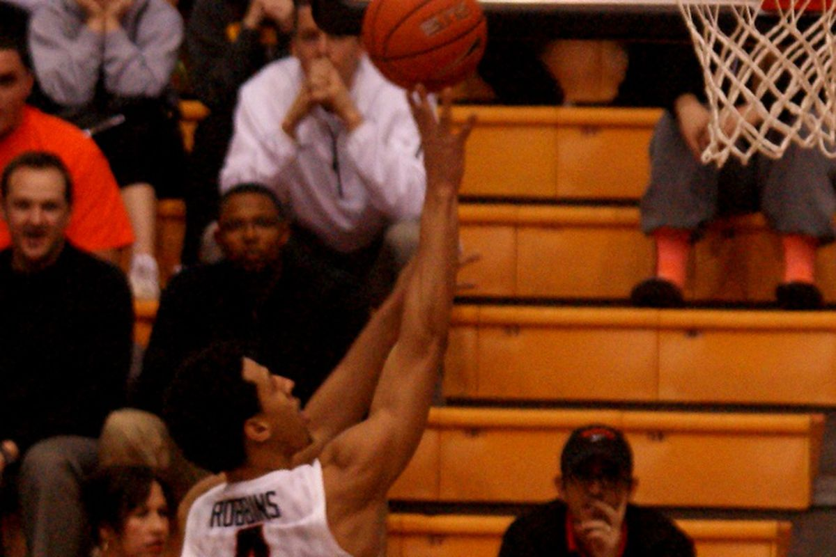 Victor Robbins won't be shooting baskets for the Beavers for a while, but he won't be cast aside either.