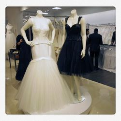 Dresses from Zac Posen's exclusive collection for David's Bridal. Wedding gowns will be priced from $850 to $1,350.