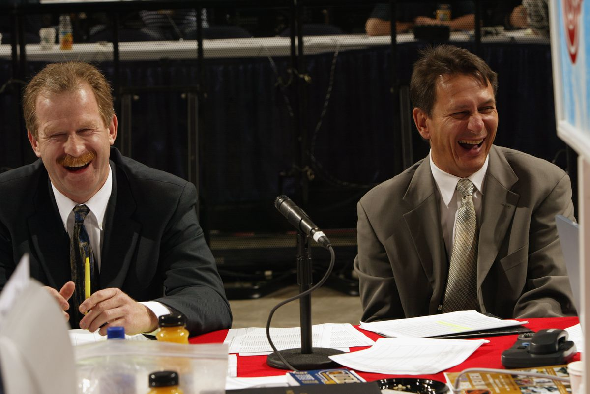 Nill and Holland share a laugh