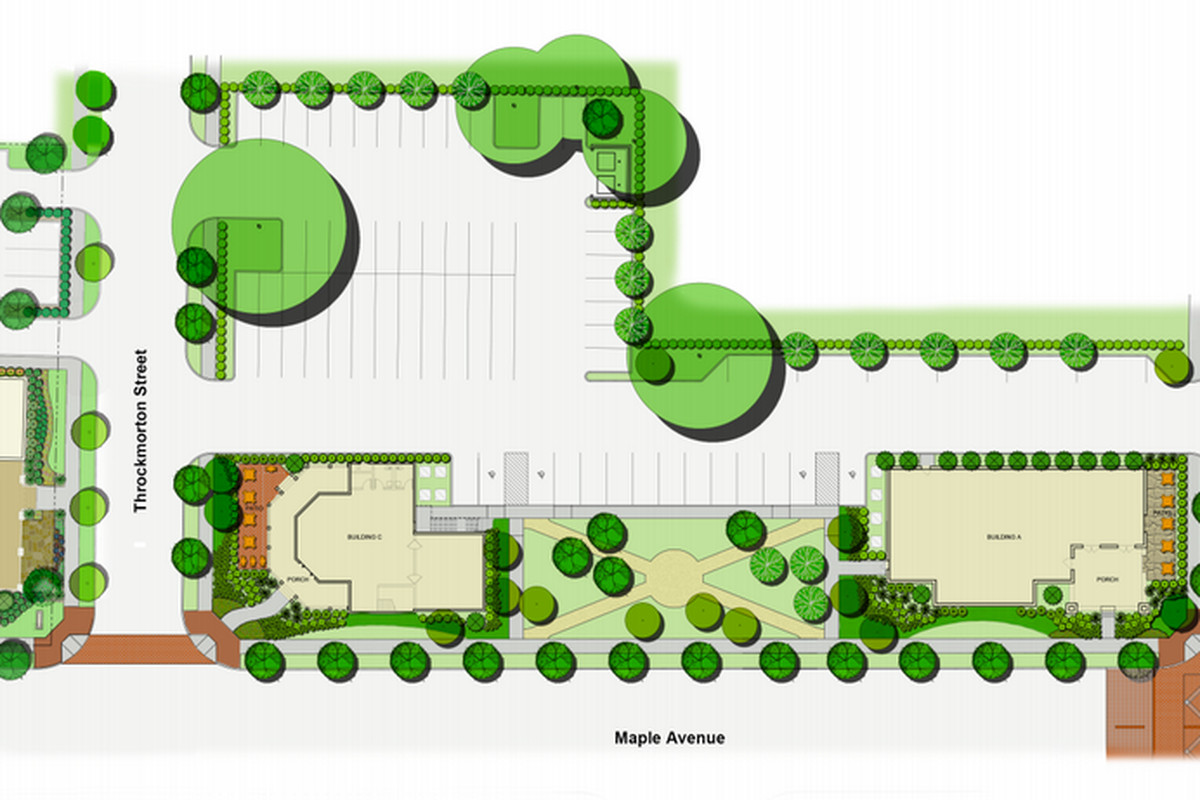 A rendering of the Maple Avenue Dining District project.