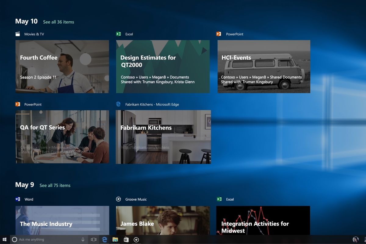 Windows 10\'s new Timeline feature lets you resume apps on other ...