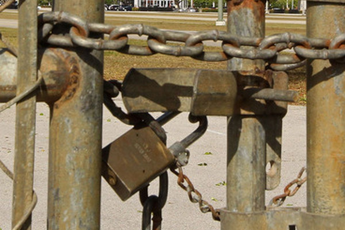 This is a meaningful photographic metaphor for a lockout.  Photo Credit