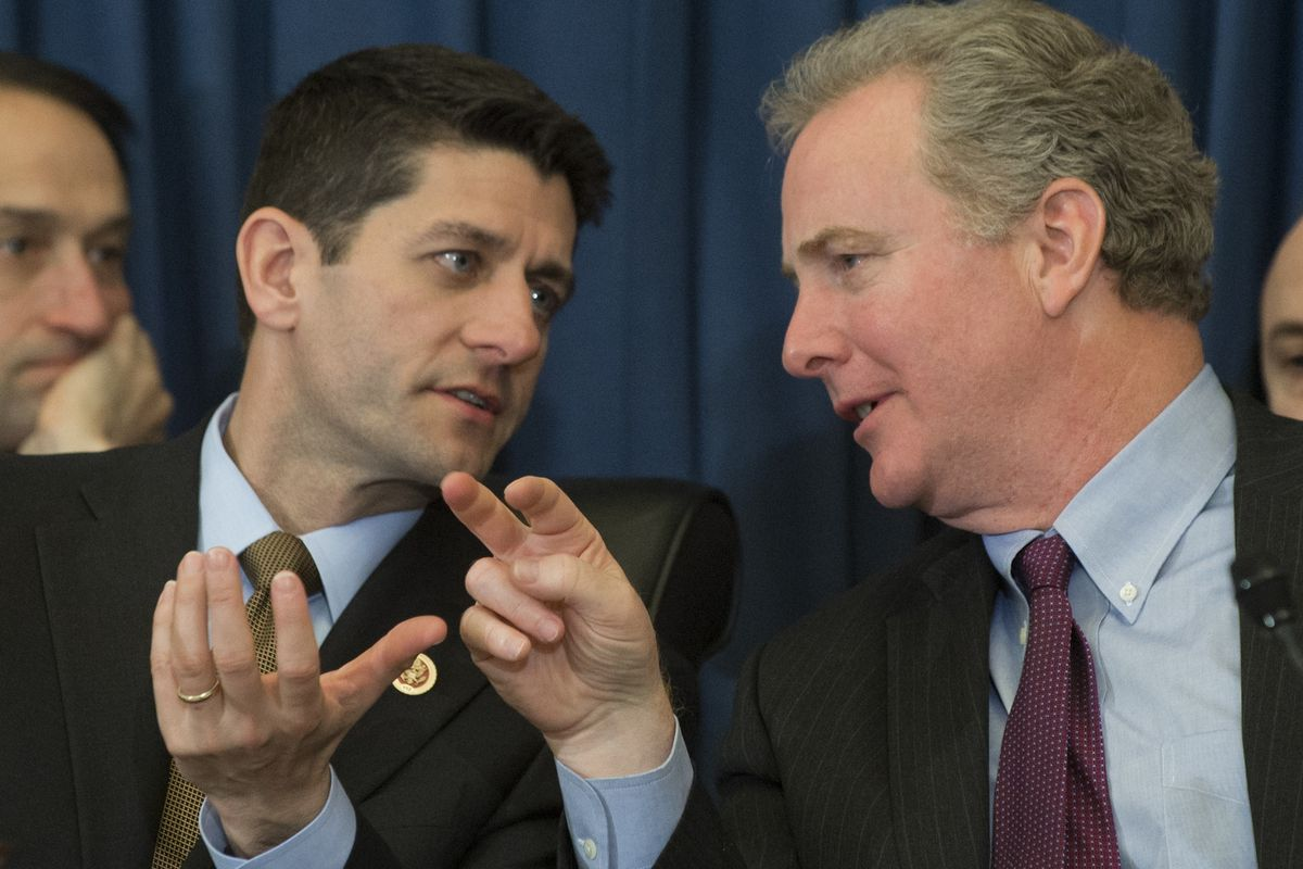 If Paul Ryan and Chris Van Hollen agreed a little more often, would inequality eventually be lower?