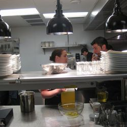 Chef David Bull in the kitchen.