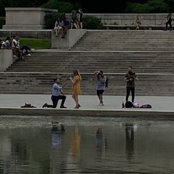 There was a couple doing an engagement photo shoot at the edge of the reflecting pool below the Lincoln Memorial, so I figured they would enjoy being featured on Corn Nation of course. Congrats to whoever you are!