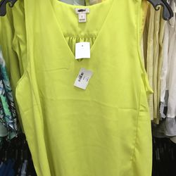 Lime green top, $25