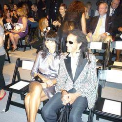 Irina Pantaeva sitting pretty with a friend