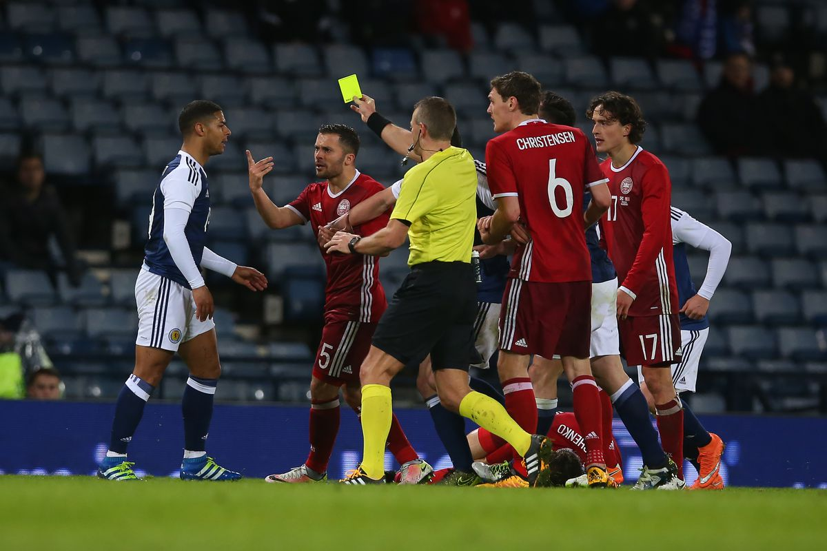 What's the big deal? Do you think Liam Bridcutt deserved a booking for the challenge in the video below?