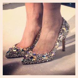 """Get a load of the stone-studded stilettos at @clovercanyon."" - <a href=""http://instagram.com/p/VsNhVVrdlu/"" target=""_blank"">@luckymagazine</a>"