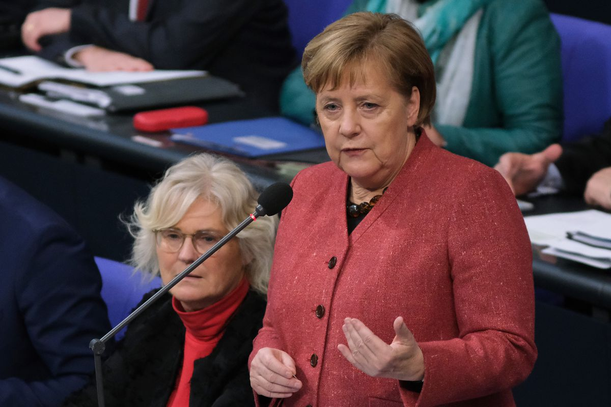 Merkel Answers Questions In Bundestag Question And Answer Session