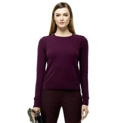 """<a href=""""http://www.clubmonaco.com/product/index.jsp?productId=16037716&cp=12243590.12266442.12454410&ab=ln_women_apparel_sweaters"""">Club Monaco Avery cashmere sweater</a>, $189.50"""