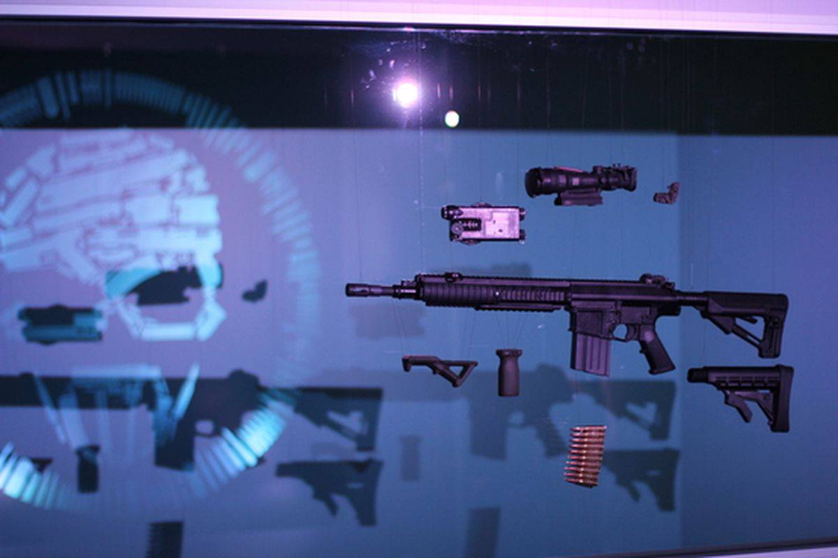 exploded gun