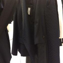 Mixed media blazer, $870