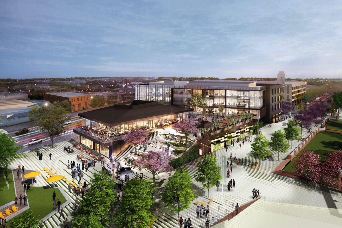 Culver Steps Development Downtown Renderings on Office Space Floor Plan Design